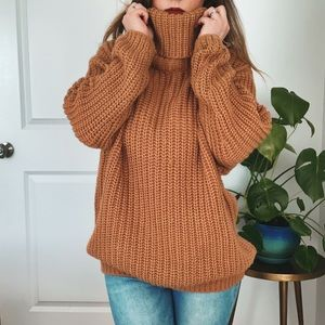 Leith Oversized Turtleneck Sweater